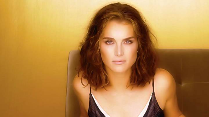 Brooke Shields Looking At Camera Front Pose