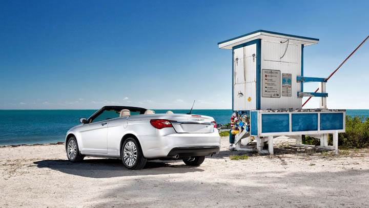 Chrysler 200 Convertible 2011 Near Beach Back Pose