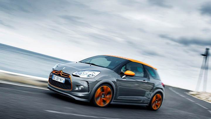 Citroen DS3 Racing Running On Highway