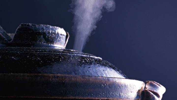 Cooker Steaming Closeup Picture
