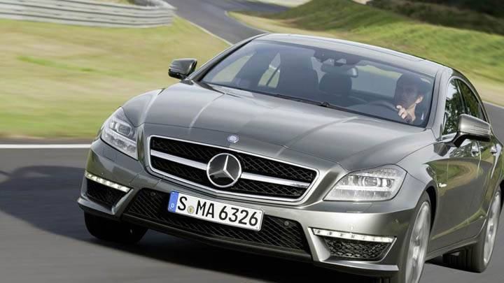 Driving 2012 Mercedes-Benz CLS63 AMG on Highway