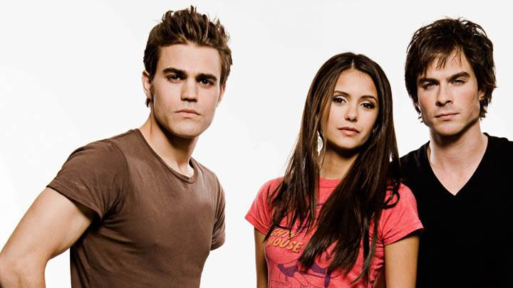 Elena Damon and Stefan in The Vampire Diaries