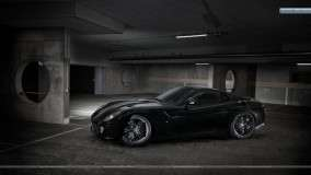 Ferrari 599 GTB Fiorano In Black Color Side Pic