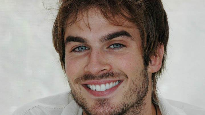 Ian Somerhalder Laughing Face Closeup