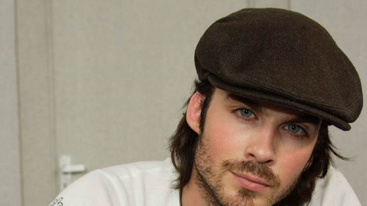 Ian Somerhalder Wearing A Cap