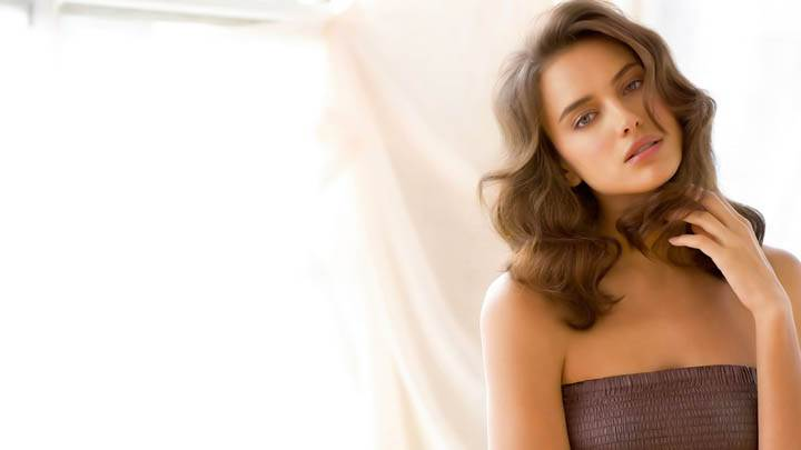 Irina Shayk Looks Sad N Brown Dress