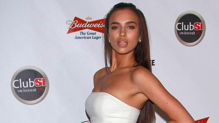 Irina Shayk White Top Dress Club Si Swimsuit