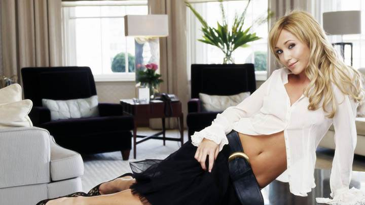 Jenny Frost Black Skirt White Top
