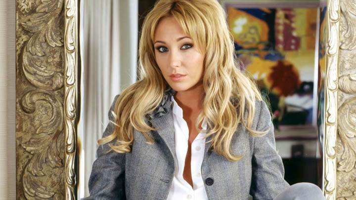 Jenny Frost Sitting White Inner Shirt Sad Face