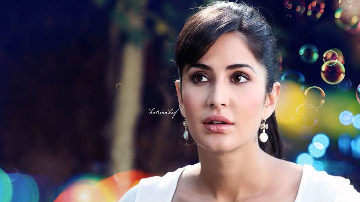 Katrina Kaif Face Closeup In White Dress