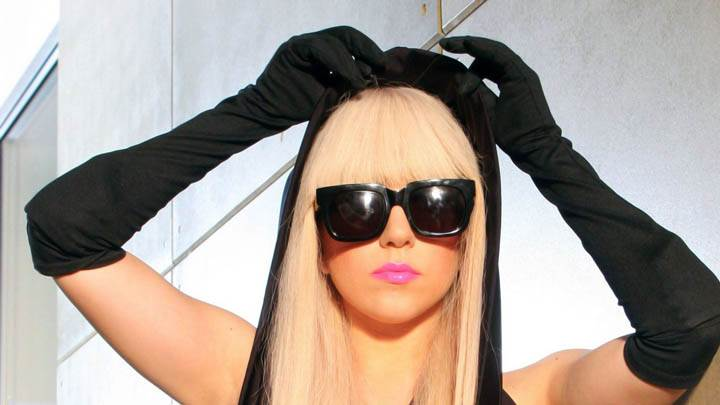 Lady Gaga Black Sunglasses