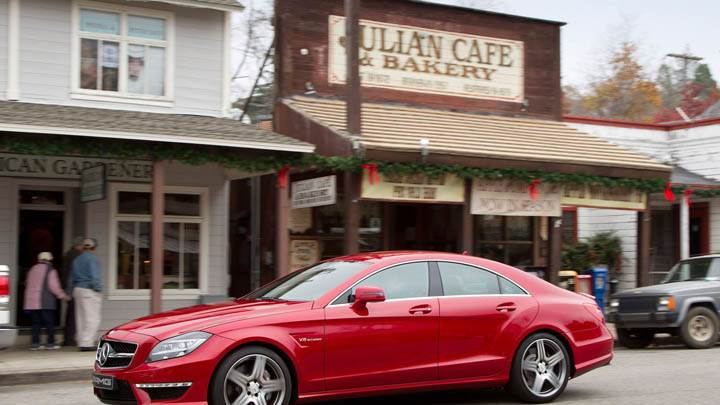 Mercedes-Benz CLS63 AMG 2012 Parked Outside Bakery