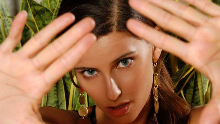 Nelly Furtado Hand On Camera