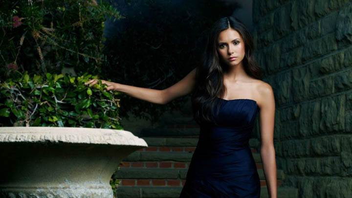 Nina Dobrev as Elena in Vampire Diaries