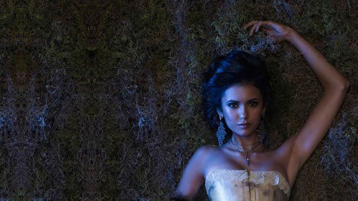 Nina Dobrev as Katherine Laying on Ground