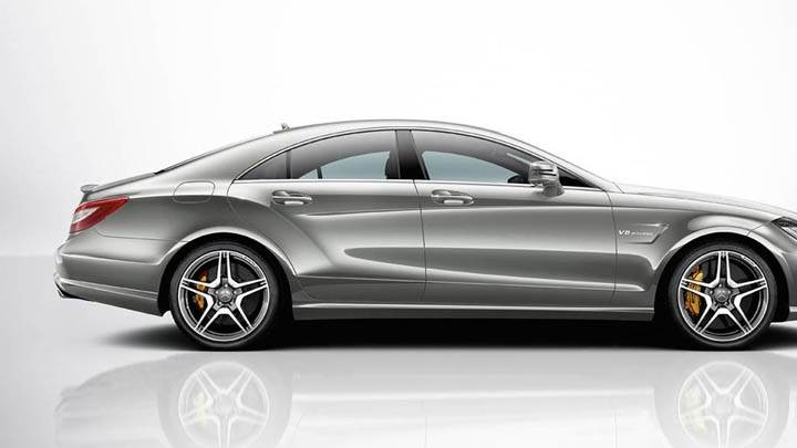 Silver 2012 Mercedes-Benz CLS63 AMG Side Pose