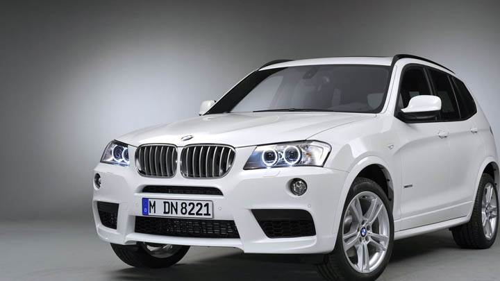 White BMW X3 Front Shoot