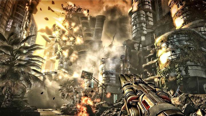 Bulletstorm Destroying Buildings