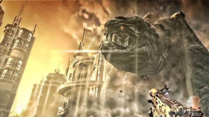 Bulletstorm Firing Gun On Big Moster