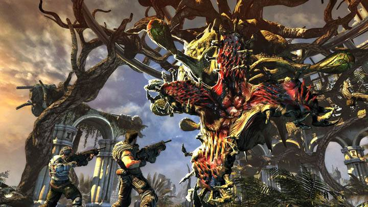 Bulletstorm Game Wallpaper Fighting With Monster