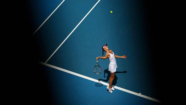 Daniela Hantuchova Playing Tennis
