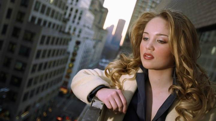 Erika Christensen Street View From Terrace White Coat