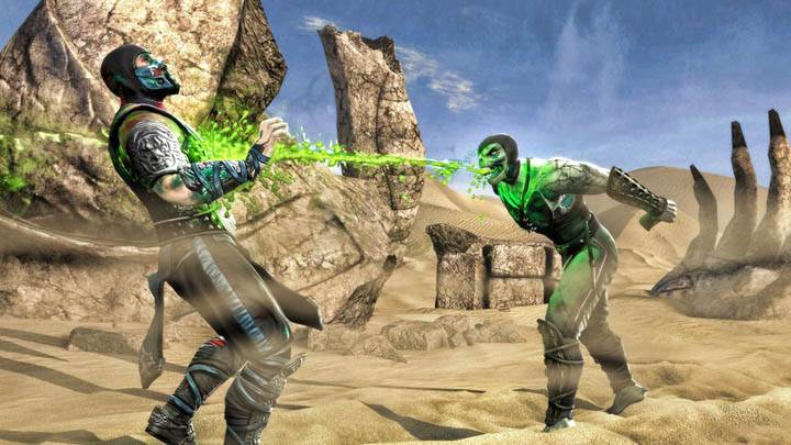 Fighting In Deserts in Mortal Kombat