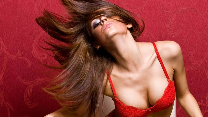 Girl Model In Red Bra