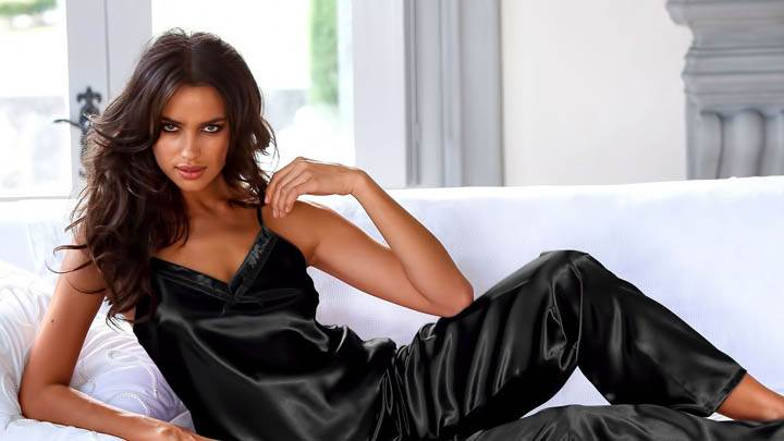 Irina Shayk In Whole Black Dress