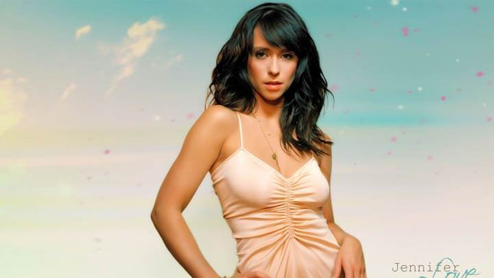 Jennifer Love Hewitt Photoshoot White Dress