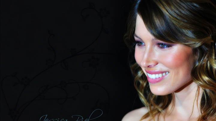 Jessica Biel Side Pose Smiling