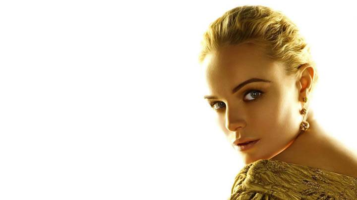 Kate Bosworth Golden Hair And Golden Dress