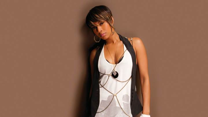Keri Hilson White Transparent Photoshoot