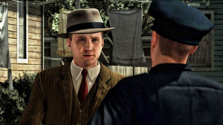 L.A. Noire Talking With Police Officer