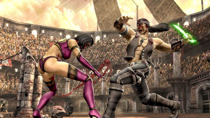 Mortal Kombat Fighting in Arena