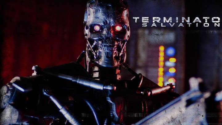 Terminator Salvation Robot With Red Eyes