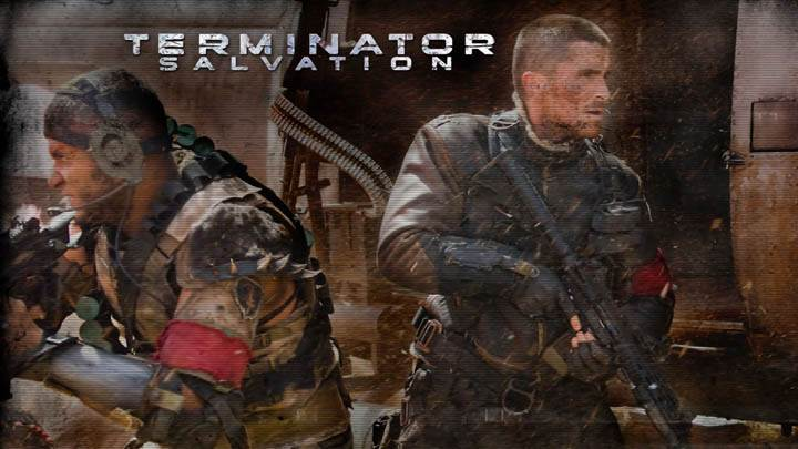 Terminator Salvation Soliders With Guns Near Helicopter
