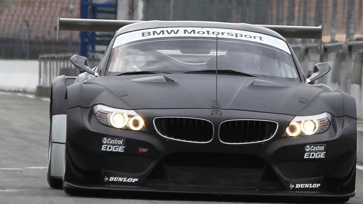 2011 BMW Z4 GT3 Black Color Front Face