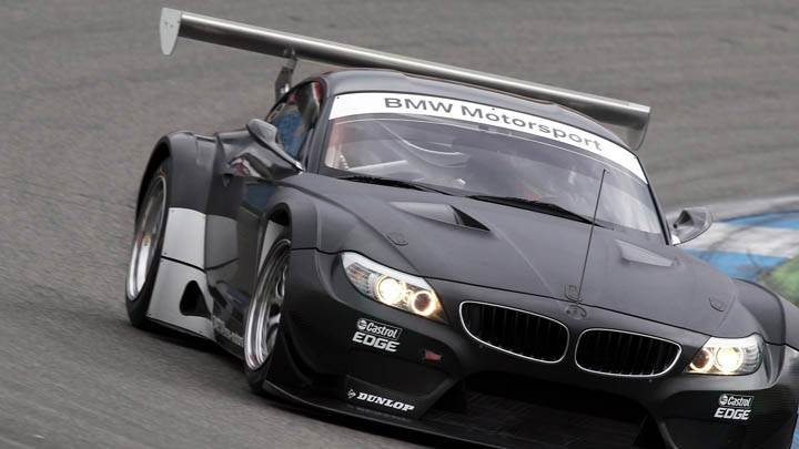 2011 BMW Z4 GT3 On Race Course