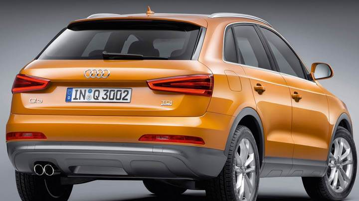 2012 Audi Q3 Back Pose in Orange