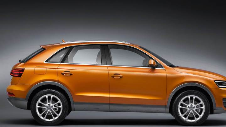 2012 Audi Q3 Orange Side Pose