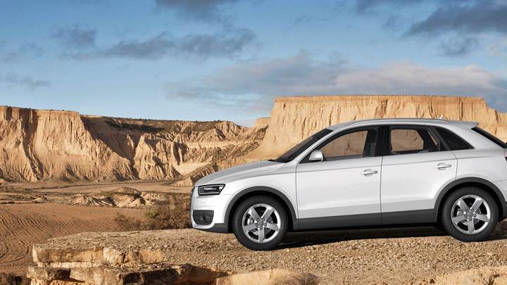 2012 Audi Q3 Parked on Mountain
