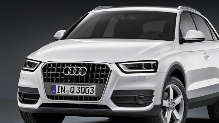 2012 Audi Q3 White Color Front