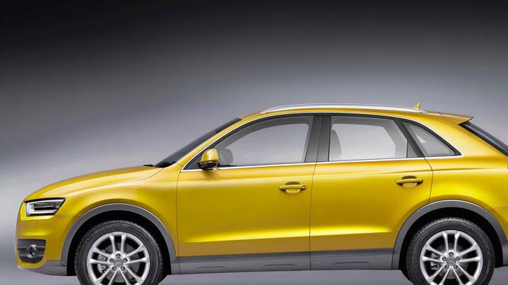 2012 Audi Q3 Yellow Color Car