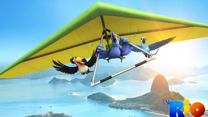 Birds Gliding in Rio Movie