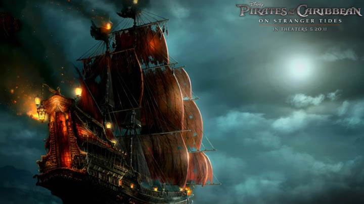 Blackbeards Ship In Pirates Of The Caribbean 4