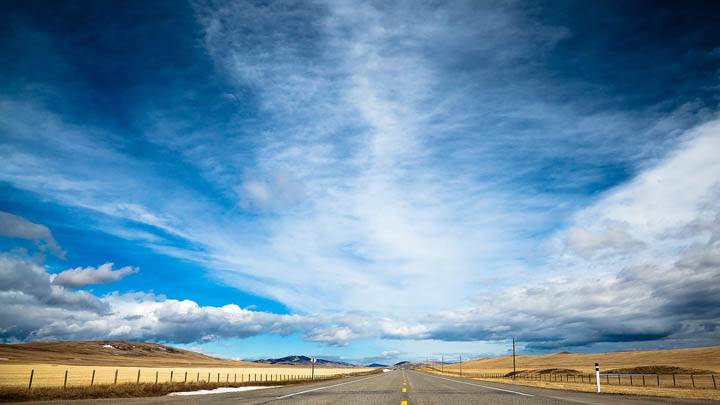 Blue Road And Sky
