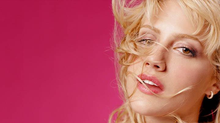 Brittany Murphy Photoshoot Purple Background
