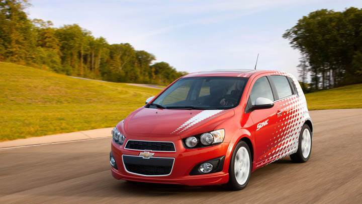 Chevrolet Sonic Z-Spec Running on Highway