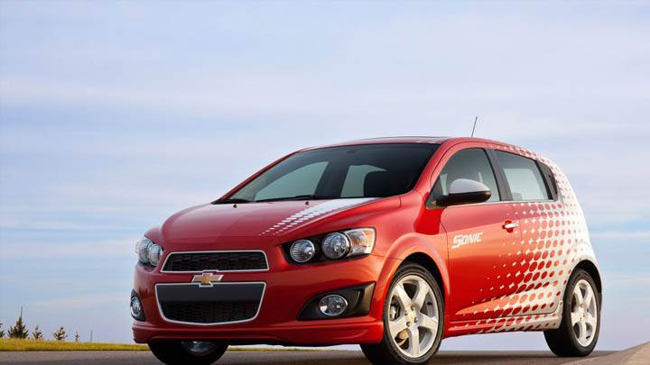 Chevrolet Sonic Z-Spec in Red Color Front